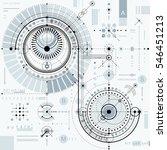technical plan  engineering... | Shutterstock . vector #546451213