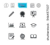 education and study icon.... | Shutterstock .eps vector #546457537