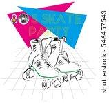 skate party | Shutterstock .eps vector #546457543