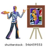 Cubist Great Artist Portrait