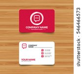 business card template with... | Shutterstock .eps vector #546466573