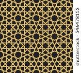 seamless geometric girih... | Shutterstock .eps vector #546478153