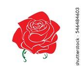 rose sketch. flower design... | Shutterstock .eps vector #546484603