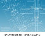 blueprints. mechanical... | Shutterstock .eps vector #546486343