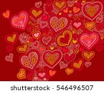 original hand drawing heart... | Shutterstock .eps vector #546496507
