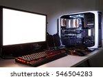 custom built gaming computer...   Shutterstock . vector #546504283