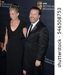 Small photo of BEVERLY HILLS, CA. October 28, 2016: Rickey Gervais & Jane Fallon at the 2016 AMD British Academy Britannia Awards at the Beverly Hilton Hotel.