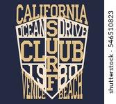 california surf typography  t... | Shutterstock . vector #546510823