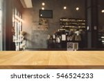 wood table top and blurred... | Shutterstock . vector #546524233