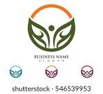 fun people healthy life logo... | Shutterstock .eps vector #546539953