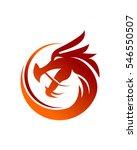 dragon logo vector | Shutterstock .eps vector #546550507