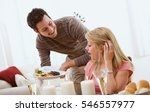 valentine's  man surprises... | Shutterstock . vector #546557977