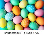 Stock photo colorful easter eggs background 546567733
