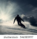 snowboarder slides down the... | Shutterstock . vector #546585997