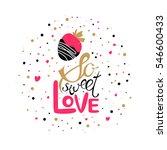 vector valentines day hand... | Shutterstock .eps vector #546600433