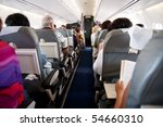 Interior Of Airplane With...