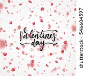 happy valentines day lettering... | Shutterstock .eps vector #546604597