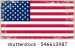 grunge usa flag.vintage... | Shutterstock .eps vector #546613987