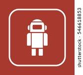 robot icon. flat design. | Shutterstock .eps vector #546618853