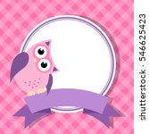 Pink Frame With Owl For...