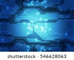 vector circuit board background ... | Shutterstock .eps vector #546628063
