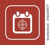 calendar  icon  isolated. flat... | Shutterstock .eps vector #546628477