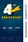 4 years anniversary invitation... | Shutterstock .eps vector #546633727