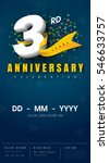 3 years anniversary invitation... | Shutterstock .eps vector #546633757