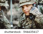 British Soldier With Radio Tub...