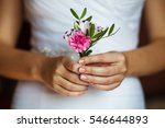 bride holding wedding... | Shutterstock . vector #546644893