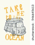 take me to the ocean vintage...   Shutterstock .eps vector #546645613