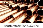 copper pipe on white background....   Shutterstock . vector #546669673