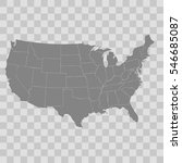 united states map | Shutterstock .eps vector #546685087