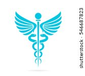 caduceus medical snake vector...