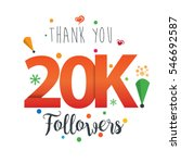 thank you design template for... | Shutterstock .eps vector #546692587