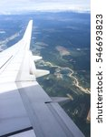 Small photo of Aerial view from aeroplane window.