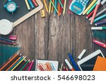 back to school and education... | Shutterstock . vector #546698023