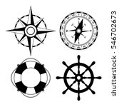marine nautical vector icon set ... | Shutterstock .eps vector #546702673