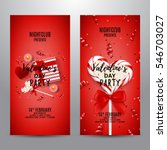 set of red party flyers for... | Shutterstock .eps vector #546703027