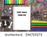 start small think big | Shutterstock . vector #546703273