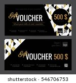 gift voucher coupon discount.... | Shutterstock .eps vector #546706753