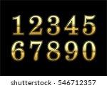 gold numbers set. golden... | Shutterstock . vector #546712357