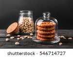 peanut cookies with nuts on... | Shutterstock . vector #546714727