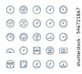 meter  icons set in thin line...   Shutterstock . vector #546721867