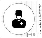 surgeon in mask and uniform icon | Shutterstock .eps vector #546727633