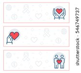 simple banners set of charity ... | Shutterstock . vector #546749737