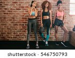 portrait of fitness women in... | Shutterstock . vector #546750793
