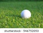 golf ball in grass green  | Shutterstock . vector #546752053