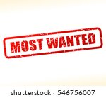 illustration of most wanted... | Shutterstock .eps vector #546756007