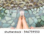 women legs enjoys with hot... | Shutterstock . vector #546759553